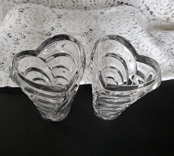 Mikasa Wyndham Crystal Vases Jarrones de Cristal Mikasa