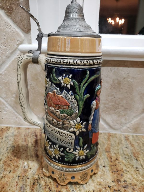 Large fancy beer stein