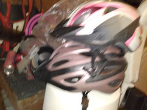 Bicycle bell helmets kids shoes baseball gloves for Sale in Garland, TX