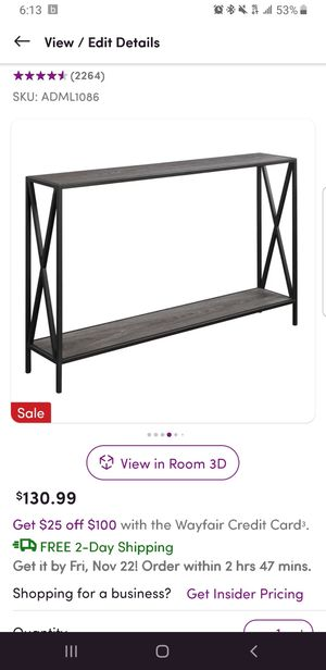 Console table for Sale in Linden, NJ