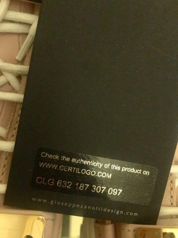Giuseppe Zanotti pink croc sneakers limited edition