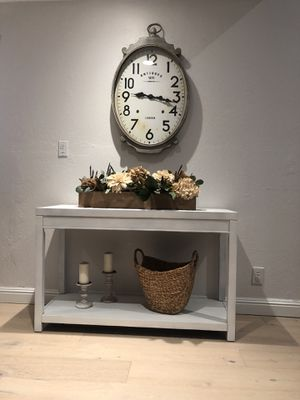 Table console and candles for Sale in Walnut Creek, CA