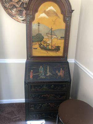 Vintage Antique Asian Secretary Desk for Sale in Powder Springs, GA