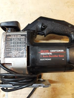 1 craftsman auto scoller/ jigsaw for Sale in Tacoma, WA