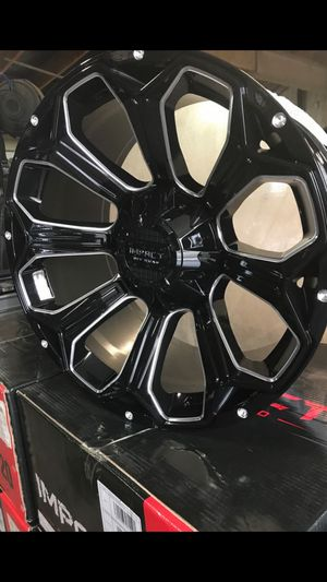 Set of Impact Offroad Catacombs Wheel Magic Black and Milled Edges: Dodge and Tundra 5 lug! @ SouthHill Tire & Offroad!!! for Sale in Auburn, WA