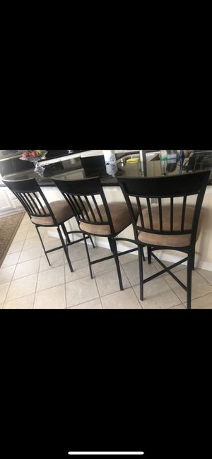 3 kitchen stools standard $100 for Sale in Tracy, CA