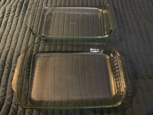 Lot of 2 Pyrex 9 x 13 Clear Glass Baking Pans for Sale in Melrose, MA