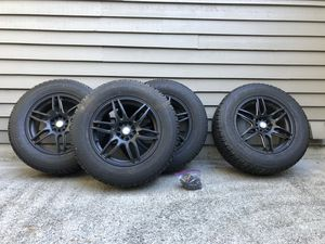 Set of 4 - Rims and Studless Snow Tires (Toyo Open Country) for Sale in Issaquah, WA