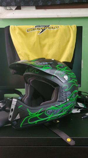 Size XXL Scorpion dirt bike helmet barely used still in great condition for Sale in Brentwood, MD