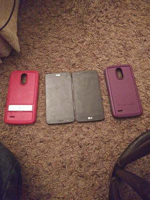 2 unlocked LG Stylo 3 with cases for Sale in Rock Island, IL