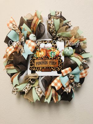 Fall Leopard Print Wreath for Sale in Plano, TX