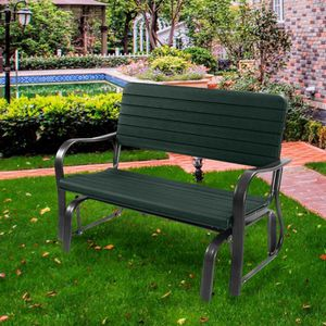 2-Person Steel Outdoor Patio Swing Porch Rocker Glider Bench for Sale in Walnut, CA
