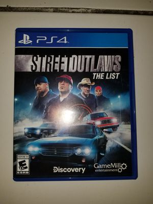 Street outlaws game for ps4 for Sale in Santa Ana, CA