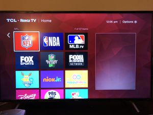 """Like new 55"""" TCL smart TV with Roku TV for Sale in Arcadia, CA"""