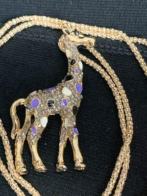 "Necklace Length: 50cm (19 "") Pendant size: 6cm x 3.5cm Material: Alloy / Rhinestone for Sale in Los Altos, CA"
