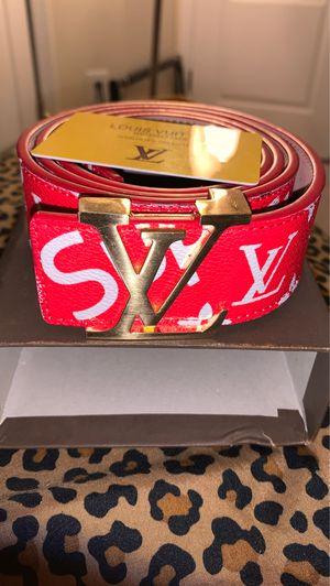 Designer supreme louis vuitton belt for Sale in Upper Marlboro, MD