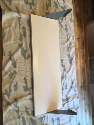"Two wall shelves - White with gray brackets - 27 1/2"" x 9 1/2"" – Five dollars each for Sale in Woodbridge, VA"