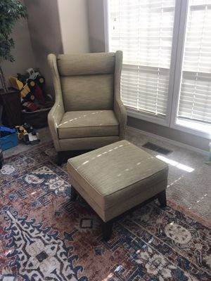 Ethan Allen chair and ottoman for Sale in Tualatin, OR