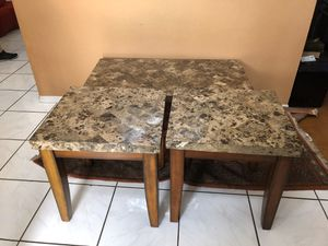 Coffee table and end tables- marble for Sale in Plantation, FL