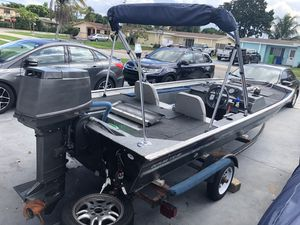 1991 17' bass boat 50hp tohatsu water ready for Sale in Fort Lauderdale, FL