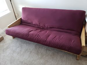 Wood Futon with Mattress for Sale in Rockville Centre, NY