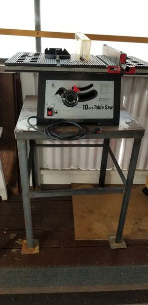 Table saw with stand for Sale in Des Plaines, IL