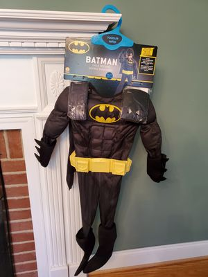 Batman toddler child costume molded belt, mask, gloves NEW for Sale in Falls Church, VA