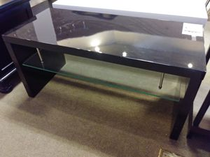 Black & Glass Low Profile Tv Stand for Sale in Phoenix, AZ