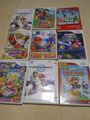 Wii mario games for Sale in Escondido, CA