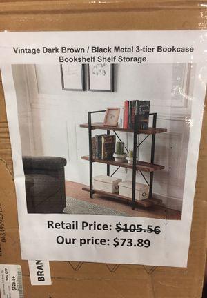 Vintage dark brown bookshelve for Sale in San Leandro, CA