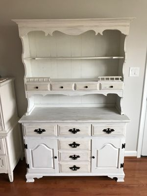 Shabby chic kitchen hutch with cabinets for Sale in Fairfax, VA