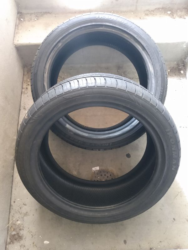 2 Brand New Ironman Tires 225/45zr18 only $75 for both!