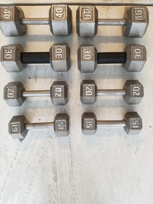 CAP Barbell Cast Iron Hex Dumbbell Set for Sale in Escondido, CA