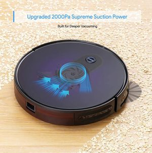 Robot Vacuum, Bagotte Upgraded 2000Pa Strong Suction Robotic Vacuum Cleaners, Boost Intellect, 2.7in Thin, Super Quiet, Self-Charging with Boundary S for Sale in Queens, NY