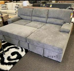 $39 Down Payment 💳Yantis Gray Sleeper Sectional with Storage for Sale in Laurel,  MD
