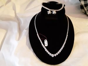 Bridal/Special Occasion Necklace, Bracelet and Earring Set for Sale in Albany, OR
