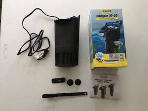 Whisper 10-30 gallon fish tank filter for Sale in Montclair, CA