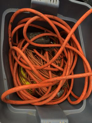 Whole storage bin filled with extension cords for Sale in Clearwater, FL