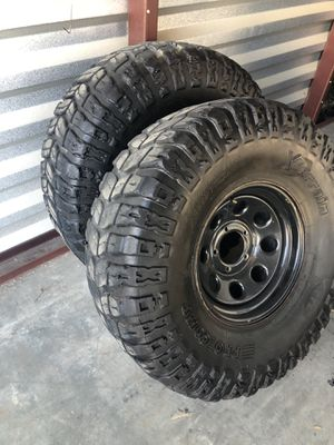 "37"" Off Road wheels and tires SET - ProComp Xterrain M/T for Sale in Perris, CA"