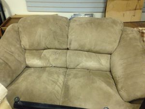 Big fluffy cushioned loveseat couch for Sale in Caledonia, MI
