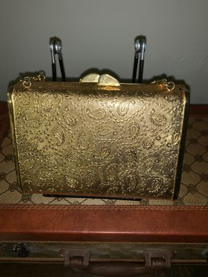 Vintage Gold Tone Ladies Wristlet Evening Bag Made in Italy by Bonwit Teller for Sale in West Valley City, UT
