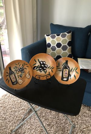 Three oil paint dishes for decorative purposes. for Sale in Winter Haven, FL
