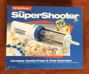 HAMILTON BEACH SUPER SHOOTER CORDLESS COOKIE PRESS AND FOOD DECORATOR - Cash & Carry or Will Ship for Sale in Athens, PA