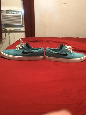 Janoski Nike teal shoes $30 good shape size 10 and 10 1/2 for Sale in Bakersfield, CA