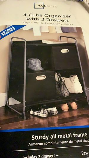 Mainstays 4-cube organizer w/2 drawers(27.87*18.54*35)-new for Sale in Temple City, CA