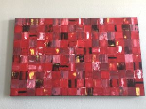 Red Canvas Painting for Sale in Frisco, TX