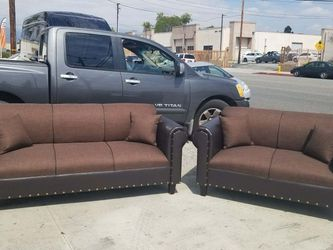 NEW BROWN FABRIC COMBO SECTIONAL COUCHES for Sale in Chula Vista,  CA