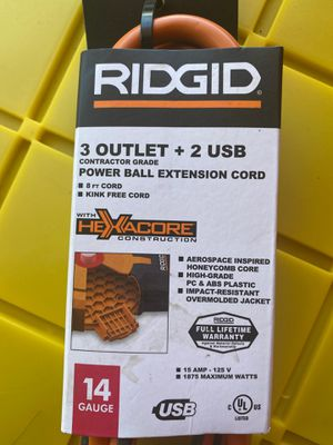 RIDGID 3 Outlets + 2 USB for Sale in Lathrop, CA