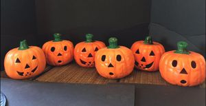 Ceramic Pumpkins x6. #10017 for Sale in Euless, TX