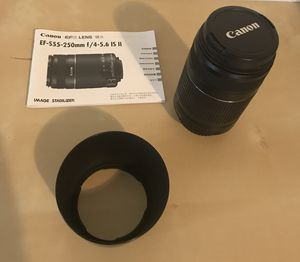 Canon telephoto lens 55-250mm for Sale in Woodburn, OR